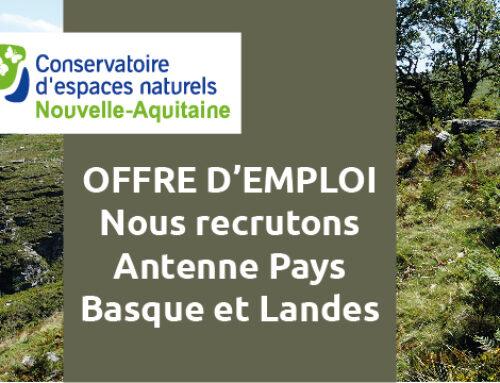 Offre d'emploi : un(e) Chargé(e) d'Etudes – antenne Pays Basque – Landes