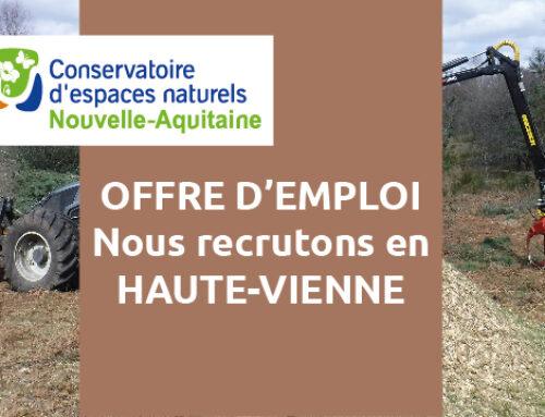 Offre d'emploi : un(e) chef d'équipe travaux – Saint-Gence (87510)