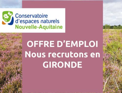 Offre d'emploi – un(e) chargé de missions – Antenne Gironde (33)