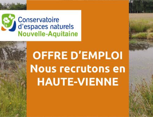 Offre d'emploi – un-e chargé(e) d'études – Antenne Haute-Vienne (87)