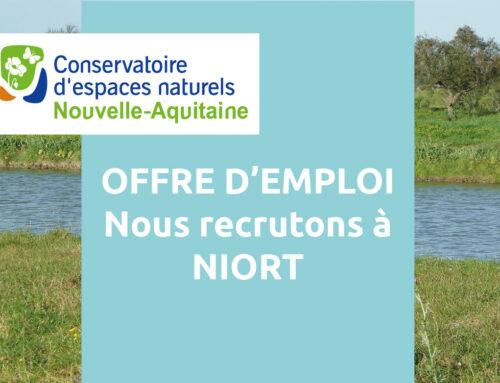 Offre d'emploi : un(e) Chargé(e) d'études – CDD à Niort (79)