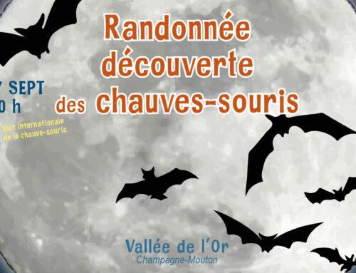 Vendredi 17/09/2021 de 20h à 22h – La Vallée de l'Or (Champagne-Mouton, 16)