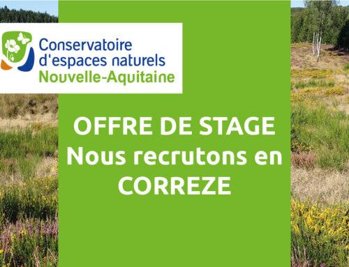 Offre de stage – Réserve Naturelle Régionale de la Haute Vallée de la Vézère (19)