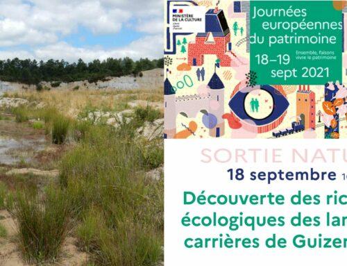 Samedi 18/09/2021 de 10h à 12h30 –  Landes et carrières de Guizengeard (Guizengeard, 16)