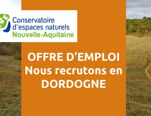Offre d'emploi : un chargé de missions en CDD en Dordogne (24)